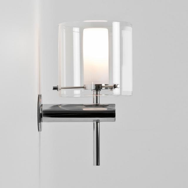 Arezzo Wall Bathroom Wall Light in Polished Chrome