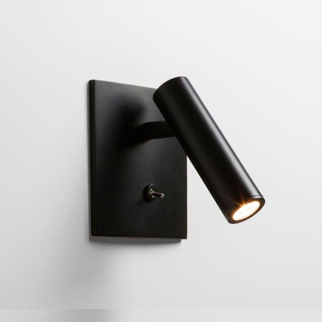 Enna Square Switched LED Reading Light in Matt Black