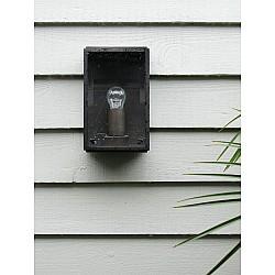 Homefield 160 Exterior Wall Light in Matt Black