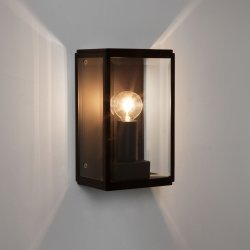Homefield 130 Exterior Wall Light in Textured Black