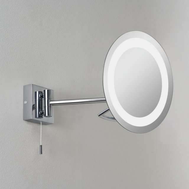 Gena Magnifying Mirror in Polished Chrome