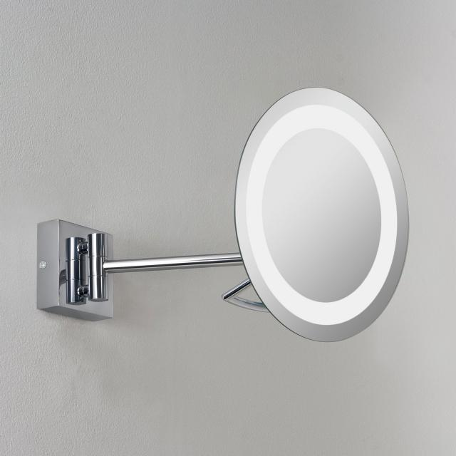 Gena plus Magnifying Mirror in Polished Chrome
