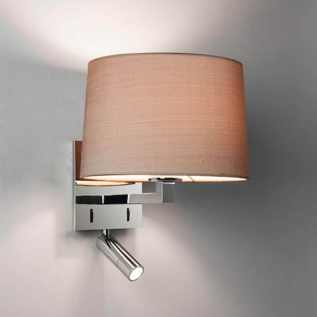 Azumi Reader LED Reading Light in Polished Chrome