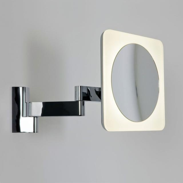 Niimi Square LED Magnifying Mirror in Polished Chrome