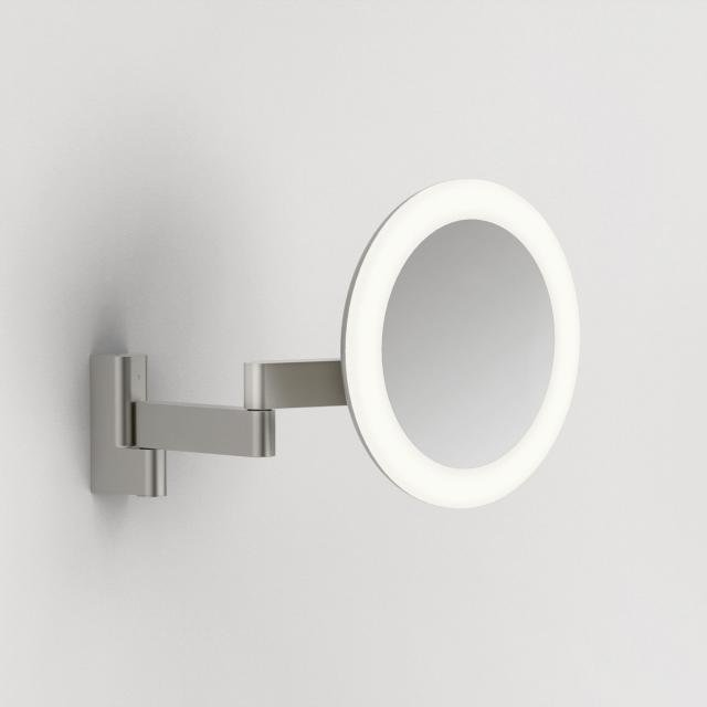 Niimi Round LED Magnifying Mirror in Matt Nickel