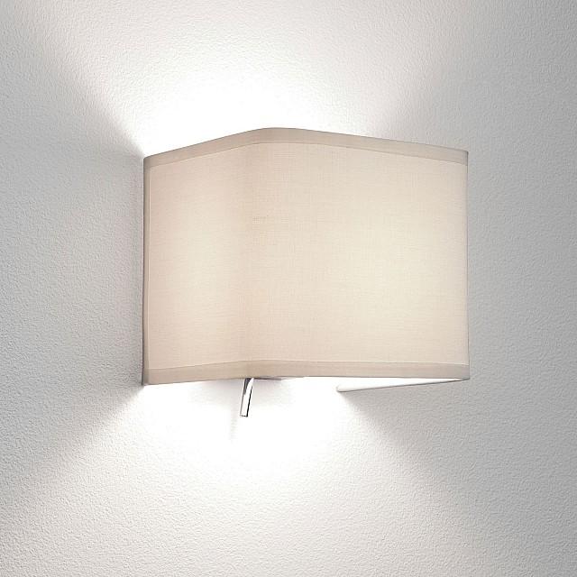 Ashino Wall Light in White Fabric