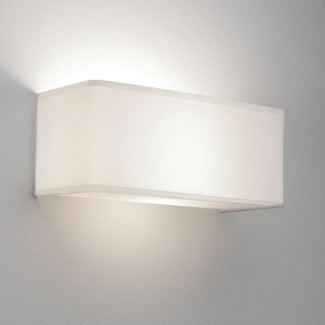 Ashino Wide Wall Light in White Fabric
