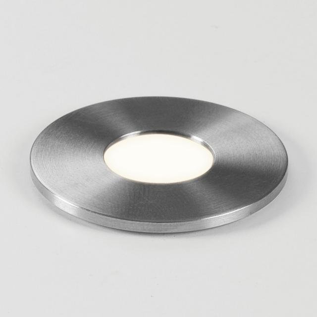 Terra Round 28 LED Recessed Downlight in Brushed Stainless Steel