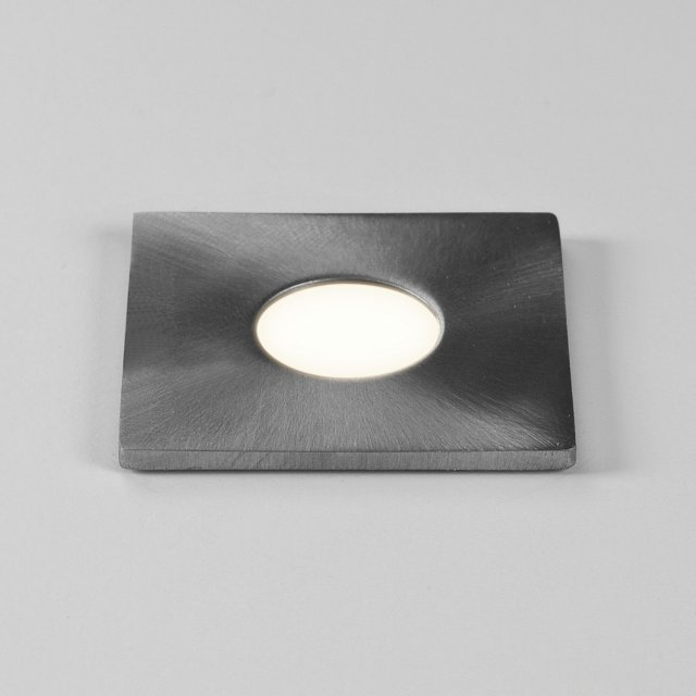 Terra Square 28 LED Recessed Downlight in Brushed Stainless Steel
