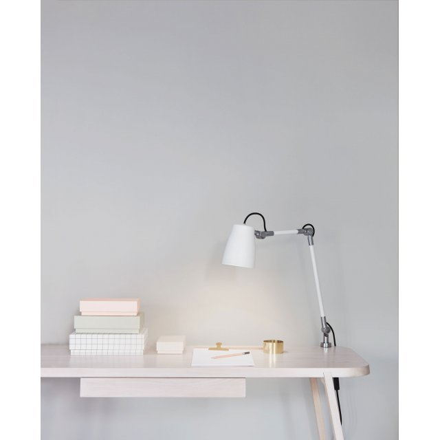 Atelier Clamp Table Lights in Polished Aluminium