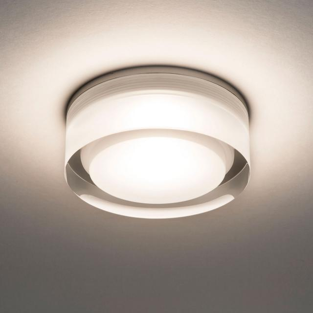 Vancouver Round 90 LED Recessed Downlight in Clear Acrylic