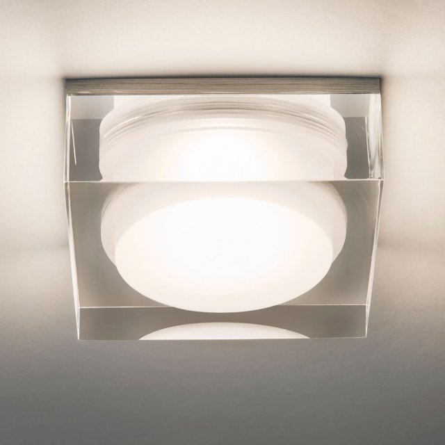 Vancouver Square 90 LED Recessed Downlight in Clear Acrylic