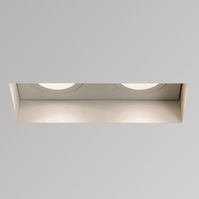 Trimless Twin Adjustable Fire-Rated Downlight/Recessed Spot Light in Matt White