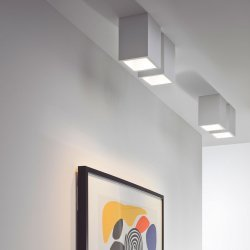 Osca Square 140 Downlight/Recessed Spot Light in Plaster