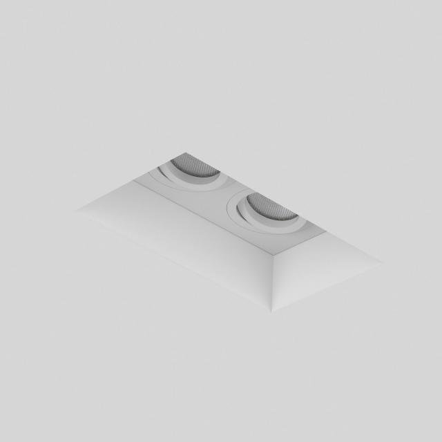 Blanco Twin Adjustable Downlight/Recessed Spot Light in Plaster