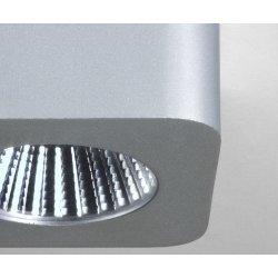 Samos Square LED 2700K Downlight/Recessed Spot Light in Anodised Aluminium