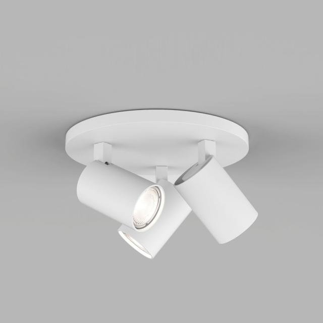 Ascoli Triple Round Spotlight in Textured White