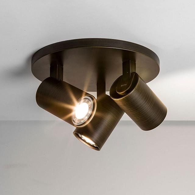 Ascoli Triple Round Spotlight in Bronze