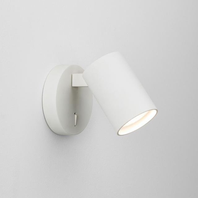 Ascoli Single Switched Reading Light in Textured White