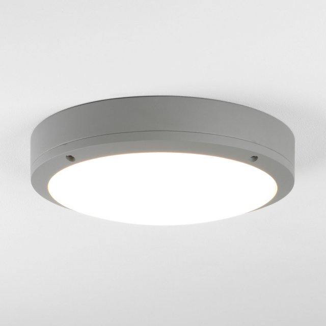 Arta LED Exterior Wall Light in Textured Painted Silver