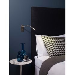 Lindos Switched LED Reading Light in Matt Nickel