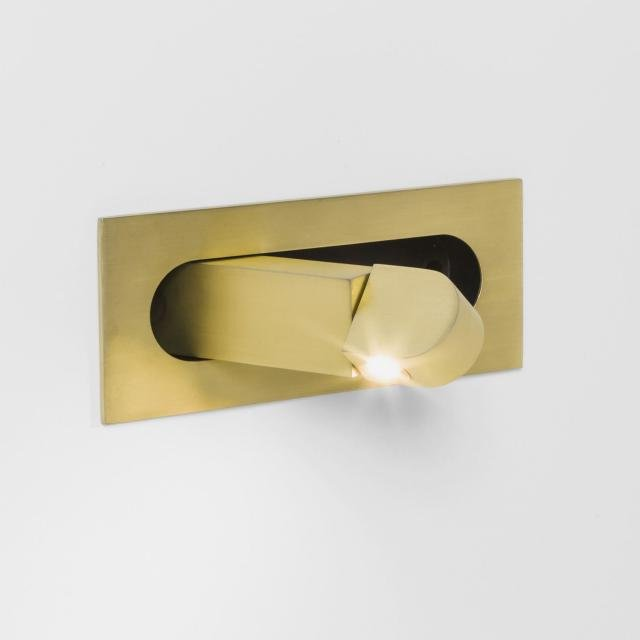 Digit LED Reading Light in Matt Gold