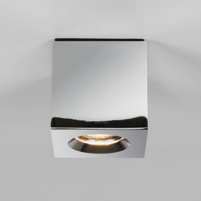 Kos Square Recessed Downlight in Polished Chrome