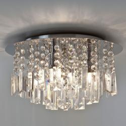 Evros Bathroom Ceiling Light in Polished Chrome