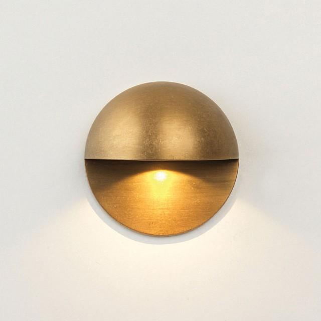 Tivoli LED Coastal Ground Light in Antique Brass