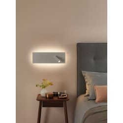 Edge Reader LED Reading Light in Matt White