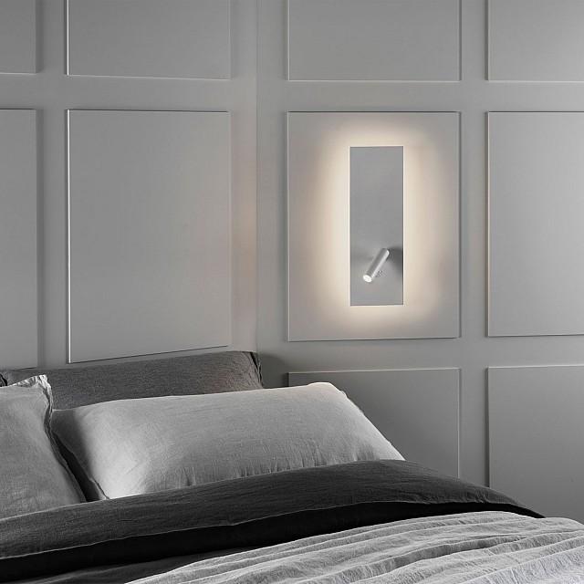 Edge Reader LED Single Switch Reading Light in Matt White