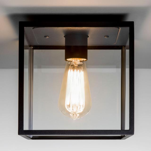 Box Ceiling Light in Textured Black
