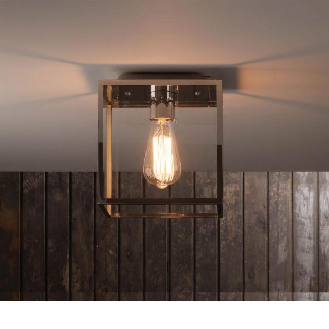 Box Ceiling Light in Polished Nickel