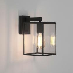 Box Lantern 270 Exterior Wall Light in Textured Black