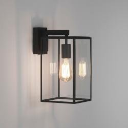 Box Lantern 350 Exterior Wall Light in Textured Black