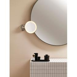 Mascali Round LED Magnifying Mirror in Matt Nickel