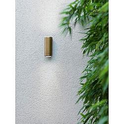 Jura Twin Wall Light in Antique Brass