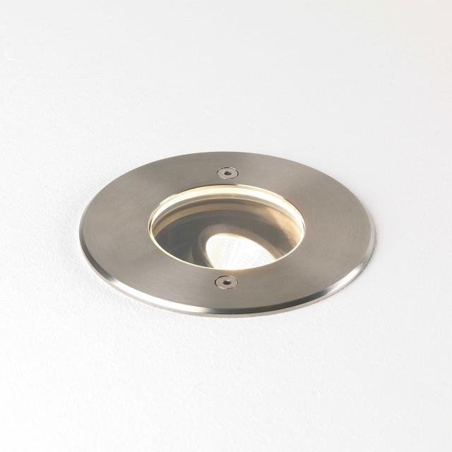 Cromarty 100 Ground Light in Brushed Stainless Steel