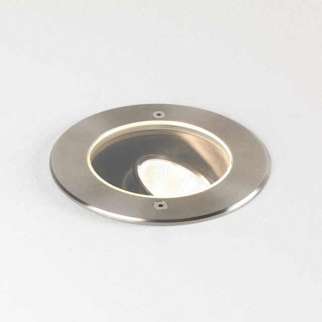 Cromarty 120 Ground Light in Brushed Stainless Steel