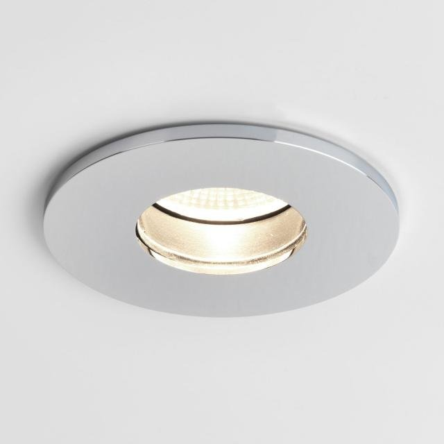 Obscura Round Recessed Downlight in Polished Chrome