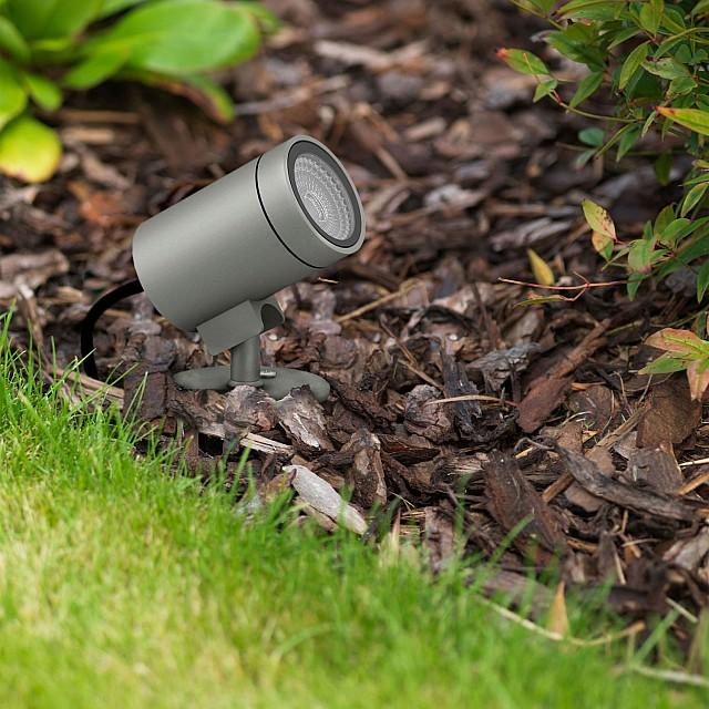 Bayville Spike Spot 12V Ground Light in Textured Black