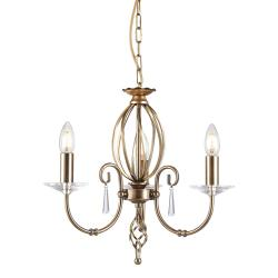 Aegean 3 Light Chandelier - Aged Brass