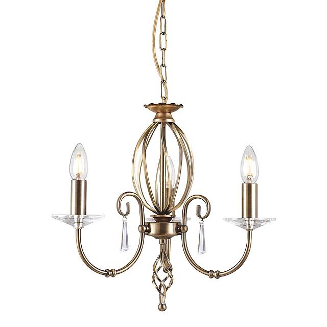 Aegean 3 Light Chandelier - Aged Brass