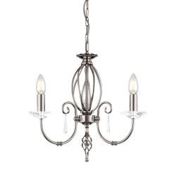 Aegean 3 Light Chandelier - Polished Nickel