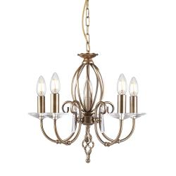 Aegean 5 Light Chandelier - Aged Brass