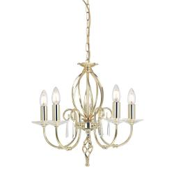 Aegean 5 Light Chandelier - Polished Brass