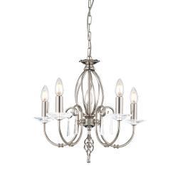 Aegean 5 Light Chandelier - Polished Nickel
