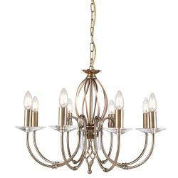Aegean 8 Light Chandelier - Aged Brass