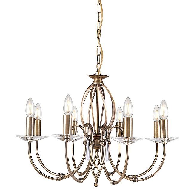 Aegean 8 Light Chandelier - Aged Brass