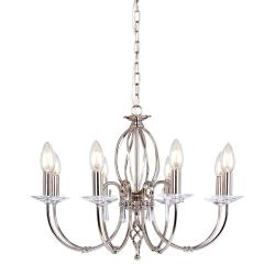 Aegean 8 Light Chandelier - Polished Nickel